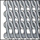 N1100 - Duplex spiraled wire belt